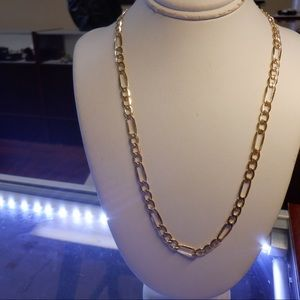 14k real solid yellow gold Figaro chain Brand new